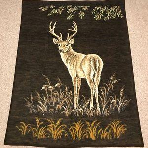 Biederlack Acrilan Reversible Blanket Deer Germany